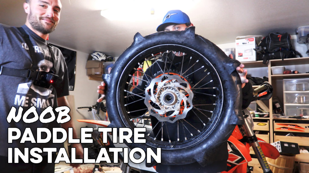 sand paddle tire installation