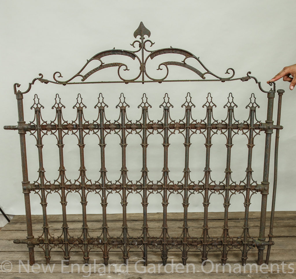 Antique Iron Gate, Stamped