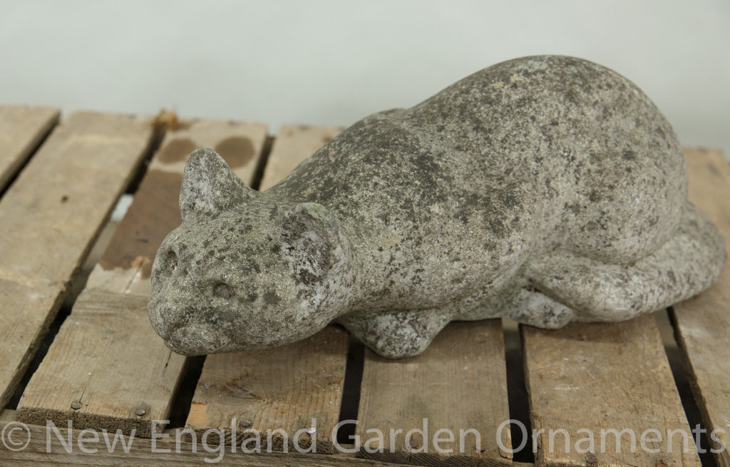 Cast Stone Prowling Cat