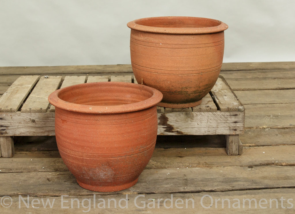 Tapered Terracotta Planters, Pair