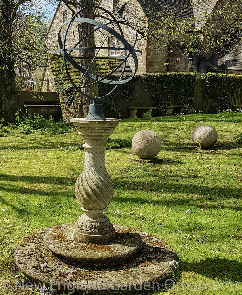 Carved Limestone Sundial