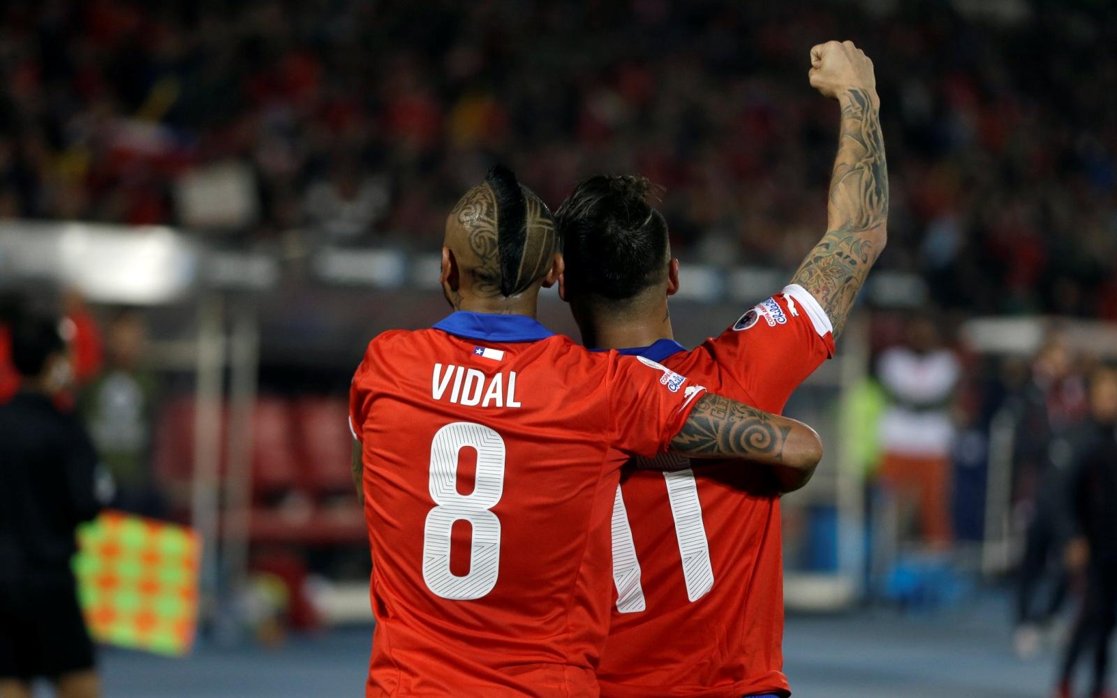 Chile Soccer Copa America Chile Peru
