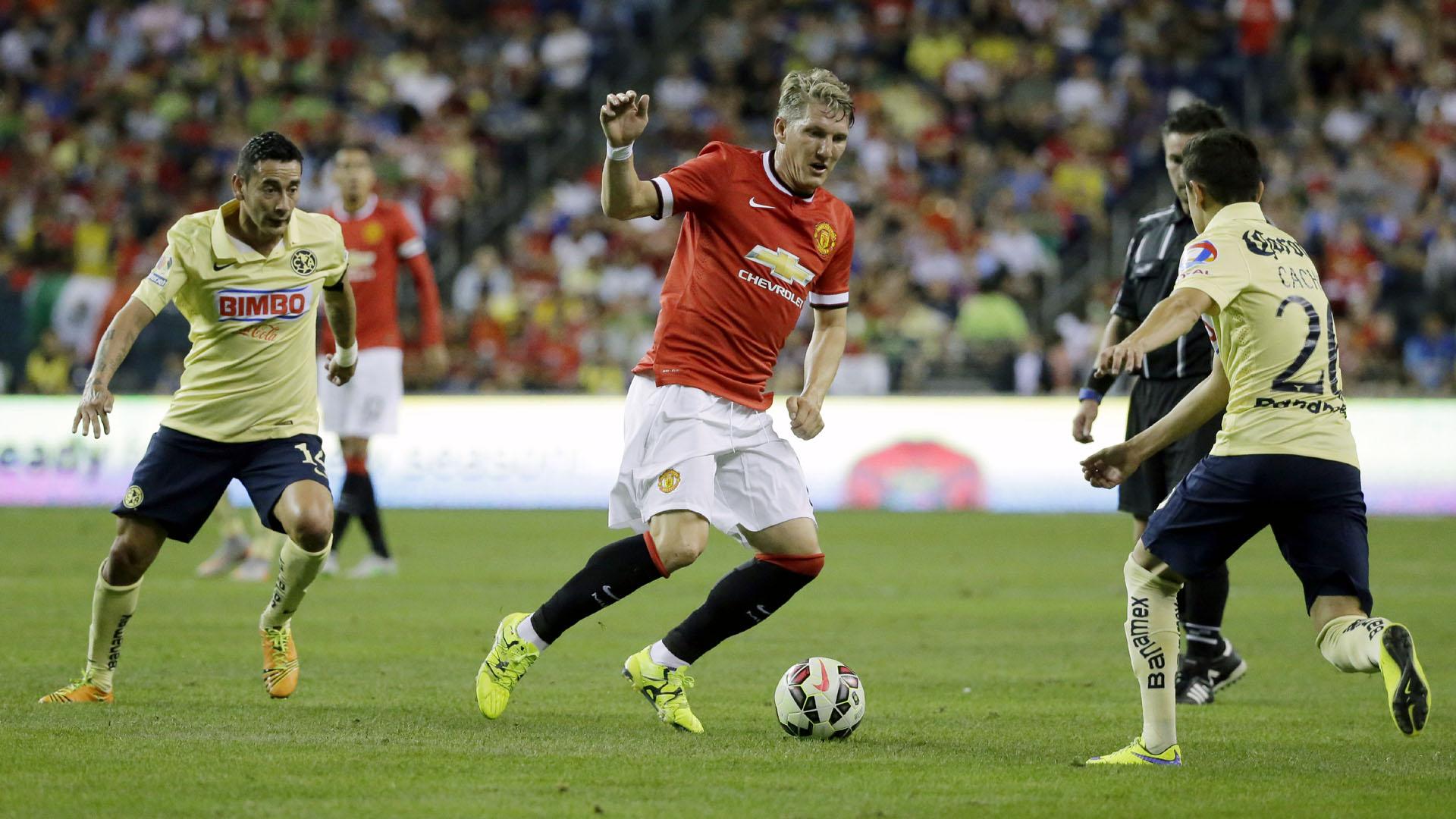 Schweinsteiger estreou com a camisa 23 do Manchester United nos Estados Unidos (AP Photo/Ted S. Warren)