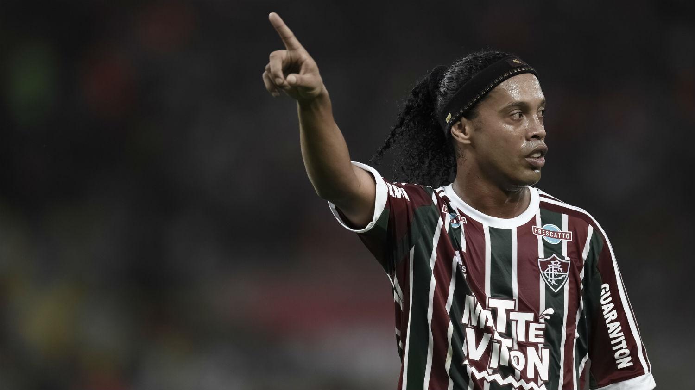 Ronaldinho Gaúcho na sua estreia pelo Fluminense (Foto: Jorge Rodrigues/Trivela)