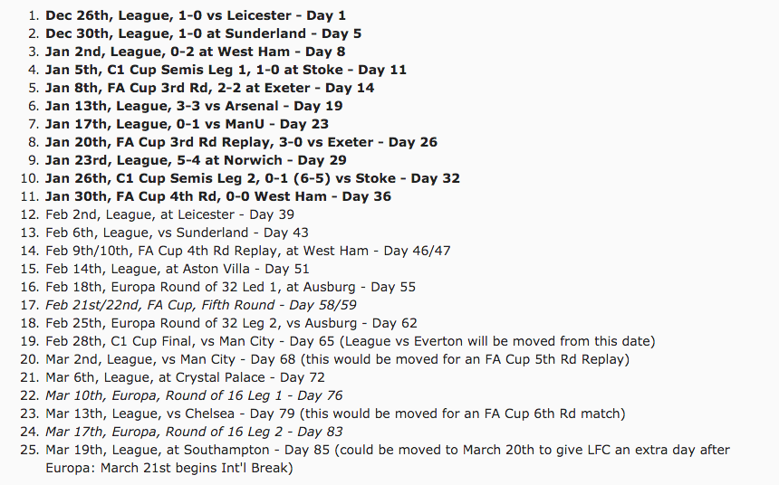 calendário Liverpool