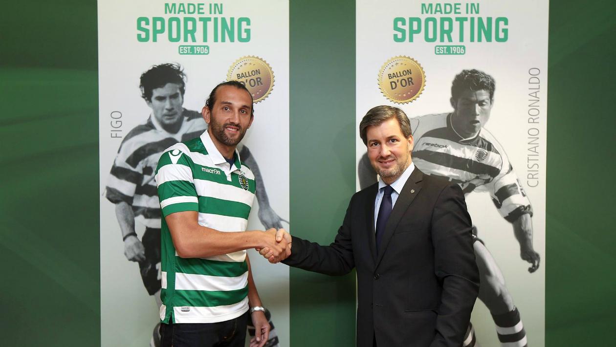 Hernán Barcos é apresentado no Sporting