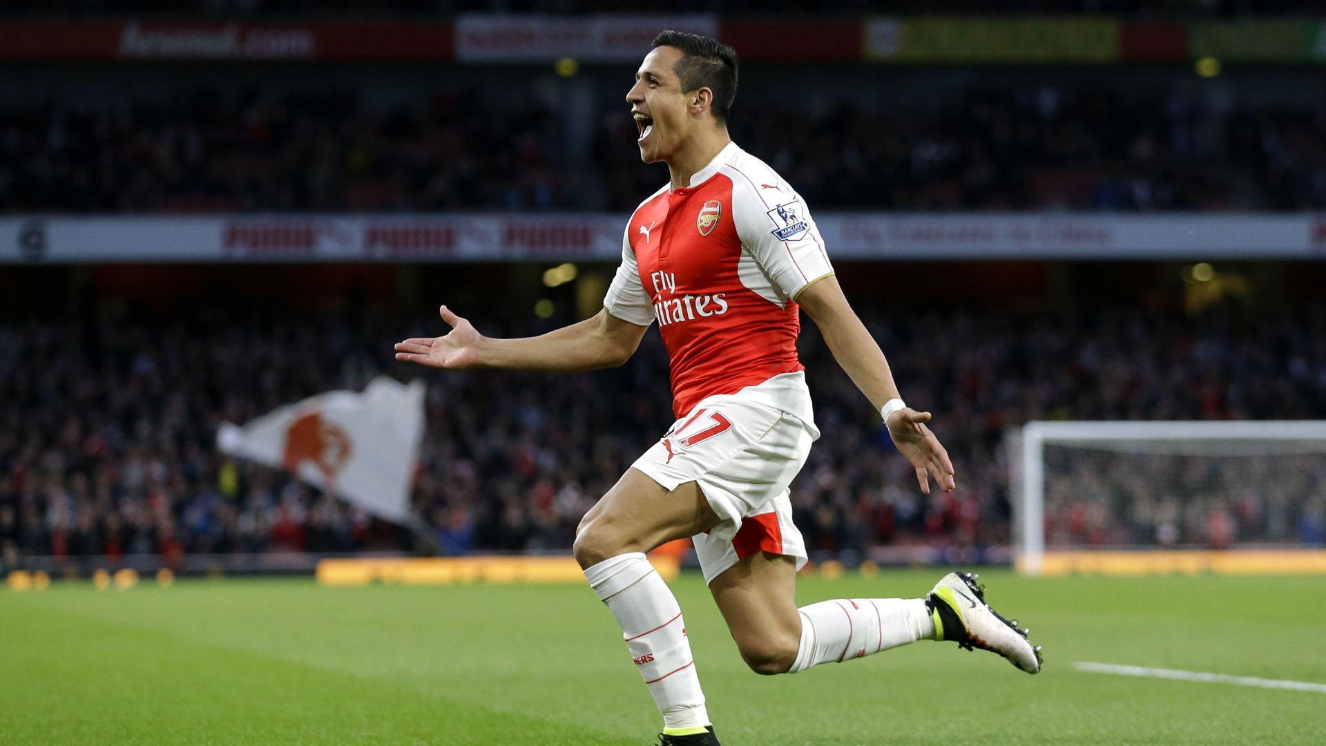 Alexis Sánchez, do Arsenal, comemora (AP Photo/Matt Dunham)
