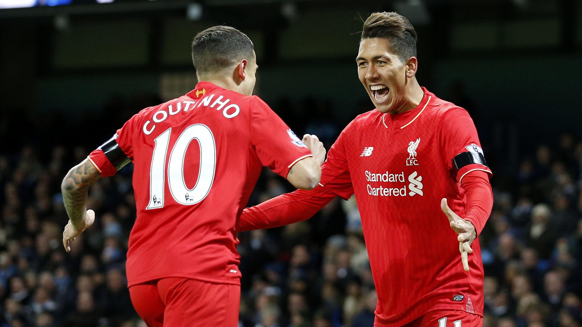 Coutinho e Firmino, brasileiros do Liverpool (AP Photo/Jon Super)
