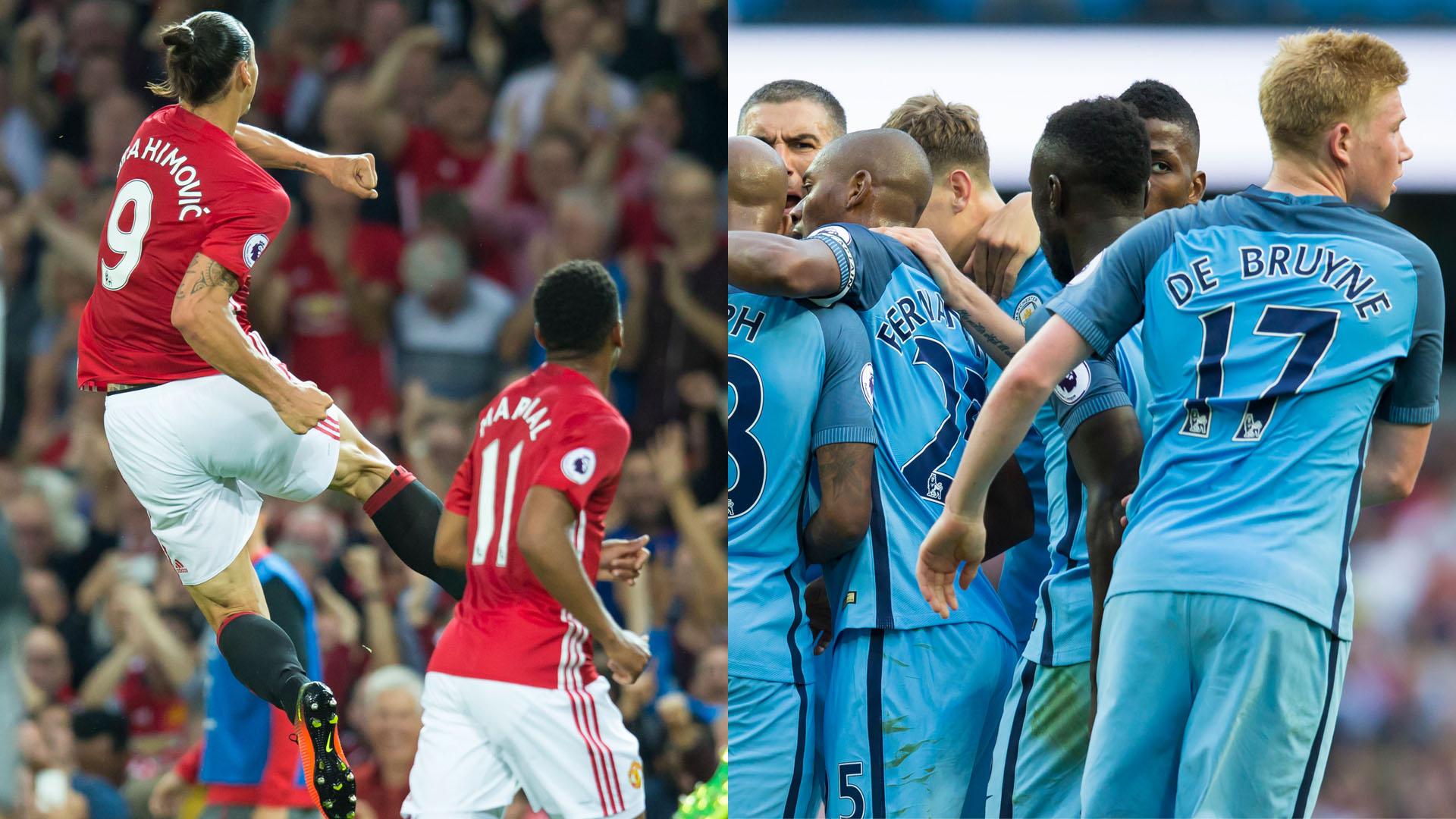 Manchester United x Manchester City: primeiro dérbi entre os dois na temporada (Fotos: AP)