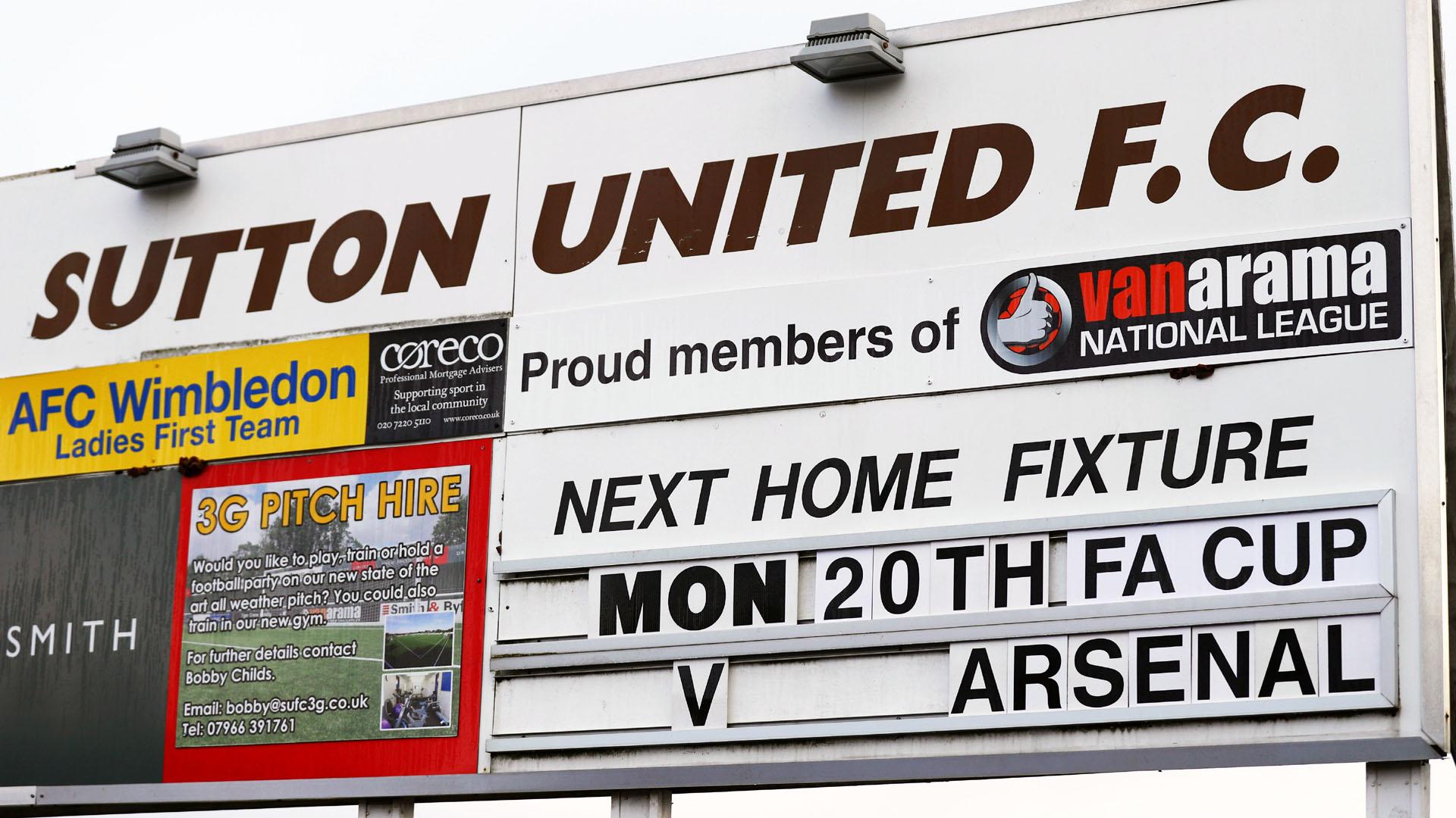 Sutton United recebe o Arsenal pela Copa da Inglaterra (Photo by Ian Walton/Getty Images)