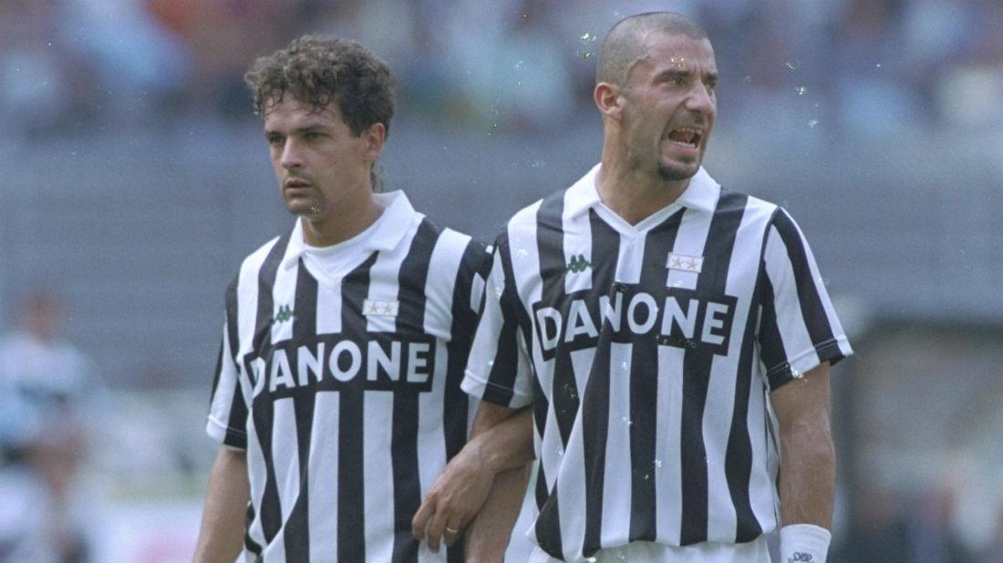 Baggio ao lado de Vialli (Foto: Getty Images)