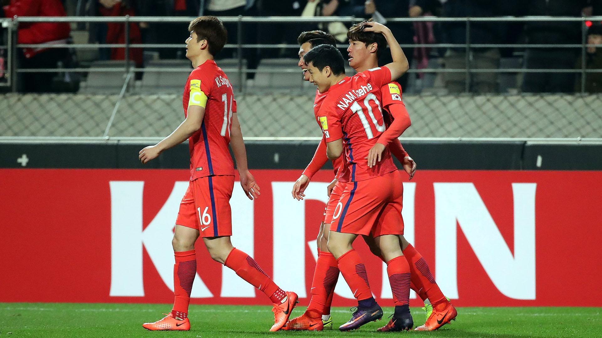 Jeong-Ho comemora gol pela Coreia do Sul (Photo by Chung Sung-Jun/Getty Images)
