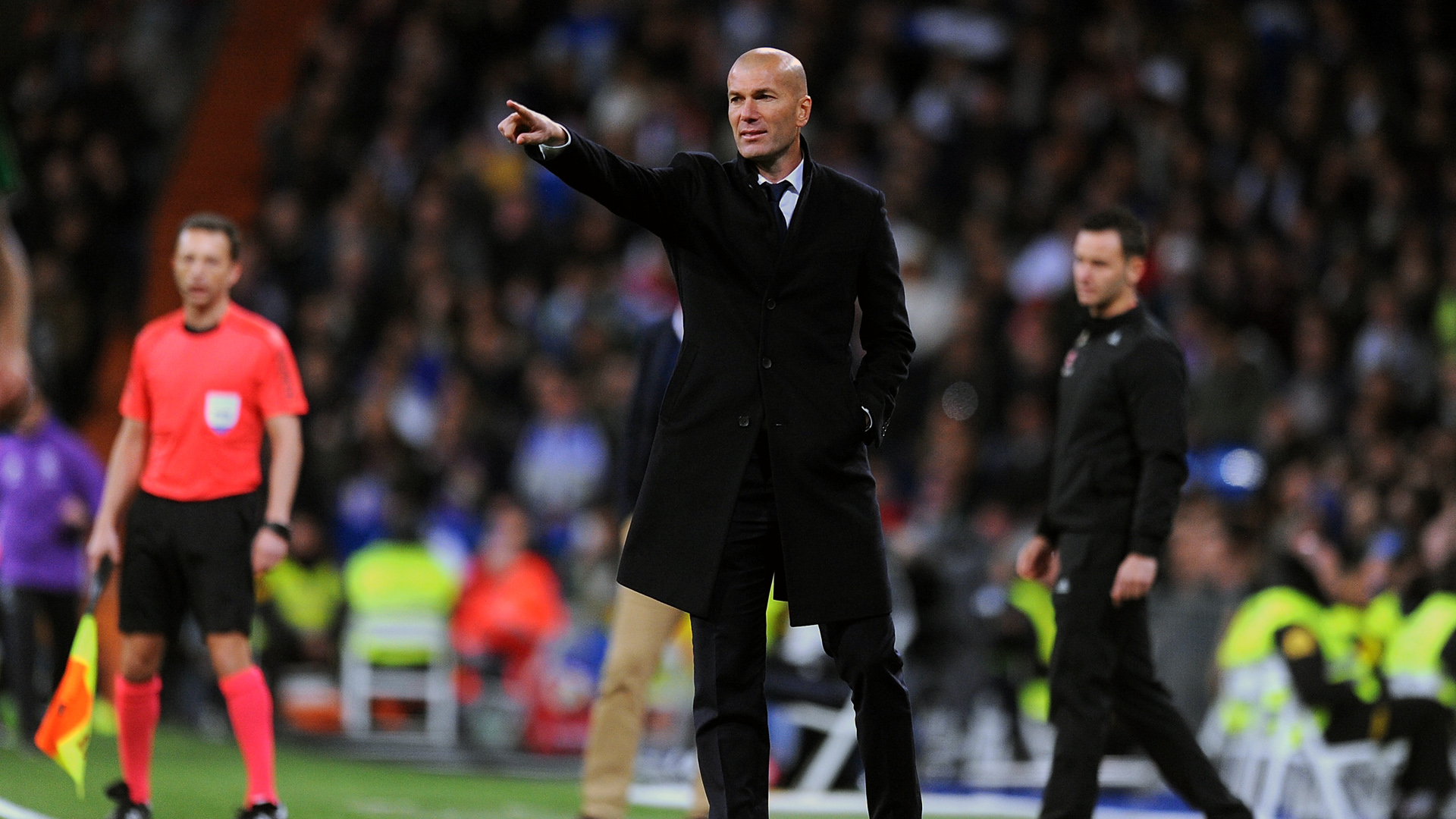Zidane, técnico do Real Madrid (Photo by Denis Doyle/Getty Images)