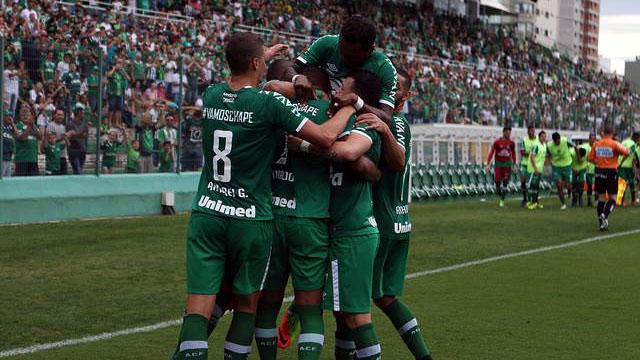 Jogadores da Chapecoense comemoram (Foto: divulgação)