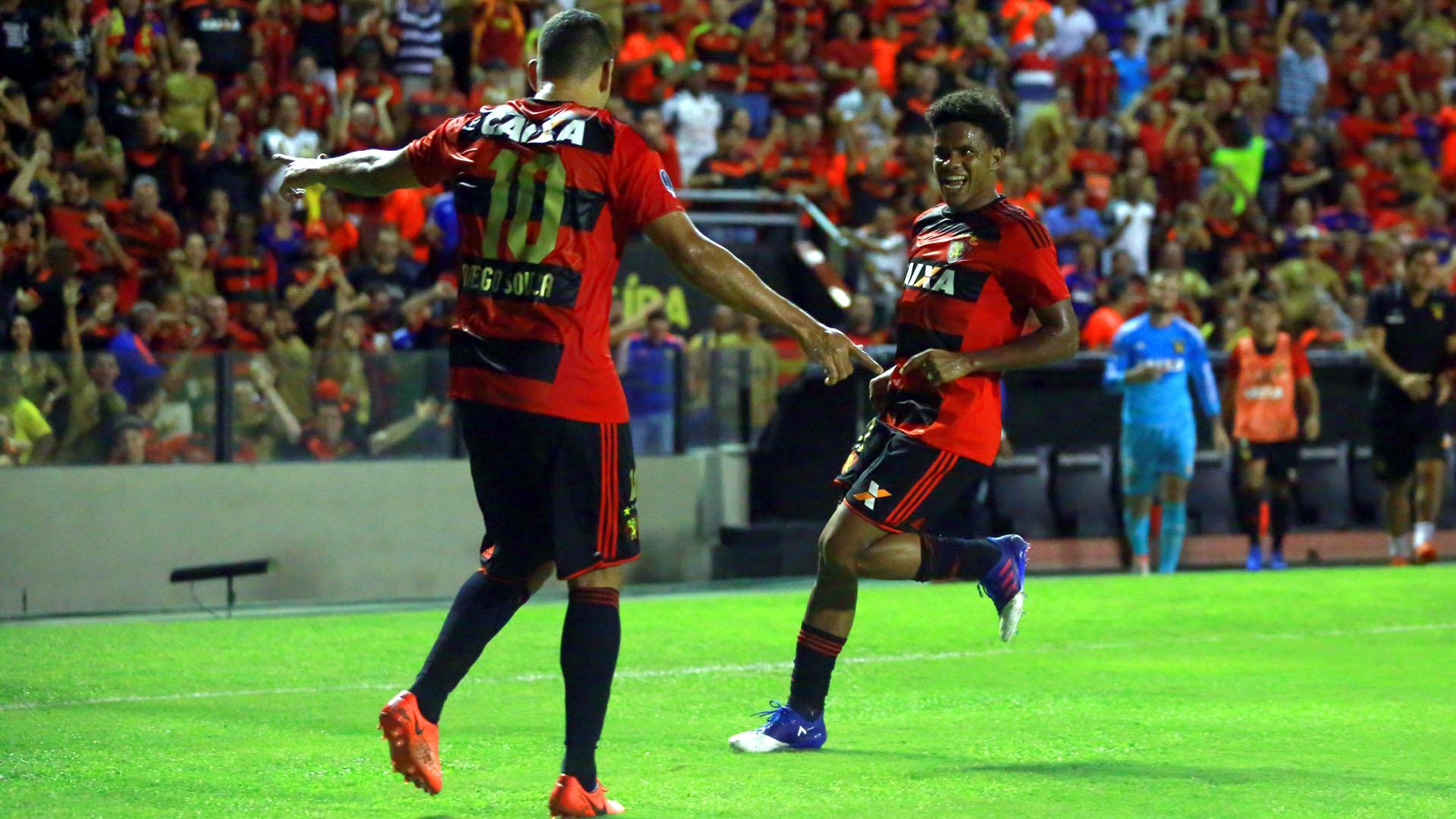 Diego Souza e Rithely, ddo Sport (Foto: Williams Aguiar/Sport Club do Recife)