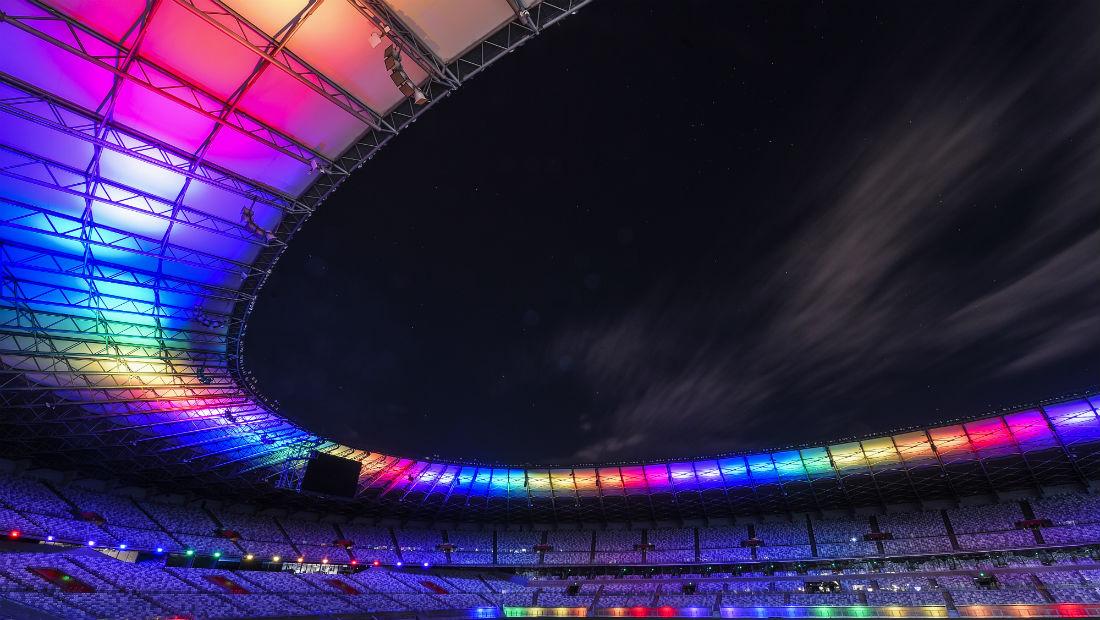 O Mineirão com as cores do arco-íris (Foto: Divulgação)