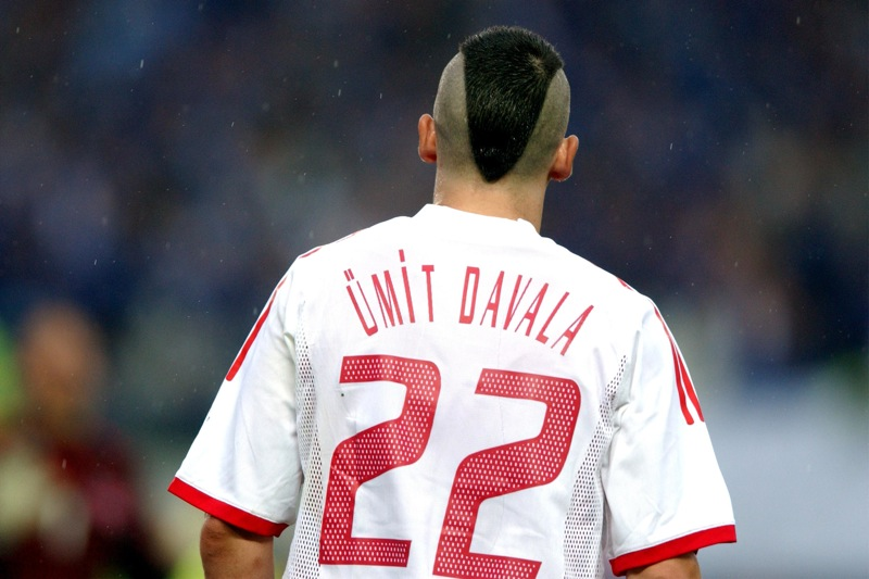 Unit Davala of Turkey whose winning goal sent his country into the quarter finals of the World Cup