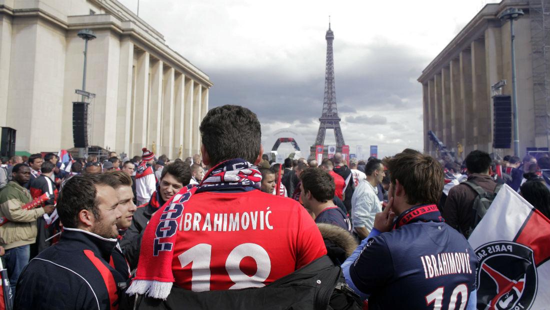 Ibrahimovic elevou o PSG de patamar, depois do investimento do Catar (Foto: Getty Images)