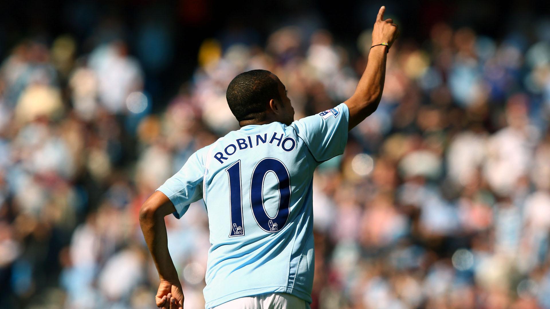 Robinho no Manchester City em 2009 (Photo by Clive Brunskill/Getty Images)