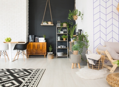 Modern black and white loft