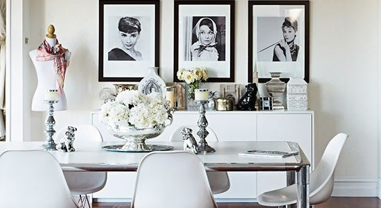 Custom White Dining Room Chairs With White And Mahogany Floor Dining Room Livingetc Housetohome