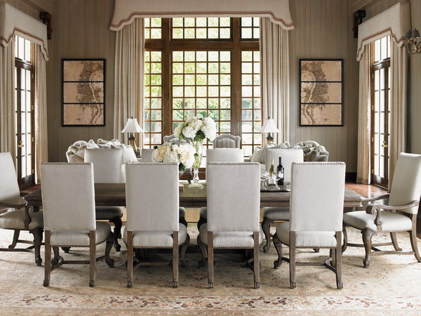 Beau Perfect Formal Dining Room Furniture With Formal Dining Room Furniture Sets  Perfect White Color Royal Themed Vintage Eight Chairs Long Table Beautiful  ...