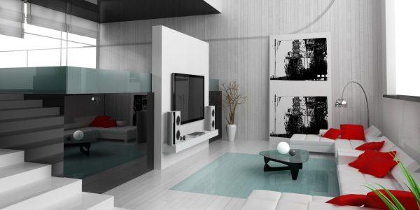 Amazing White Home Interior Design With Living Room Interior Design