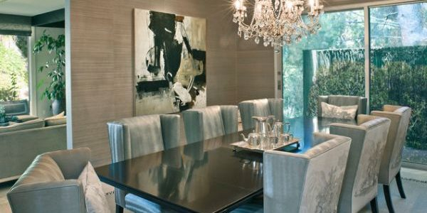 Amazing Dinning Room Decor With Dining Room With Luxury Chandelier