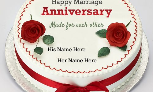 Trend Wedding Anniversary Names With Marriage Anniversary Wishes Rose Cake