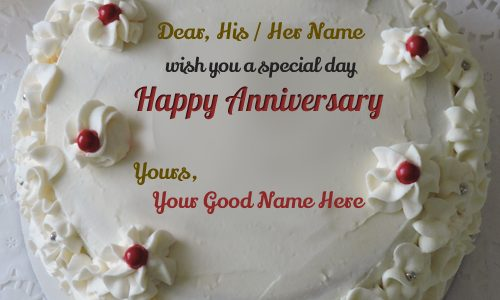 Awesome Wedding Anniversary Cake With Special Day Anniversary Wishes For Wife Or Husband