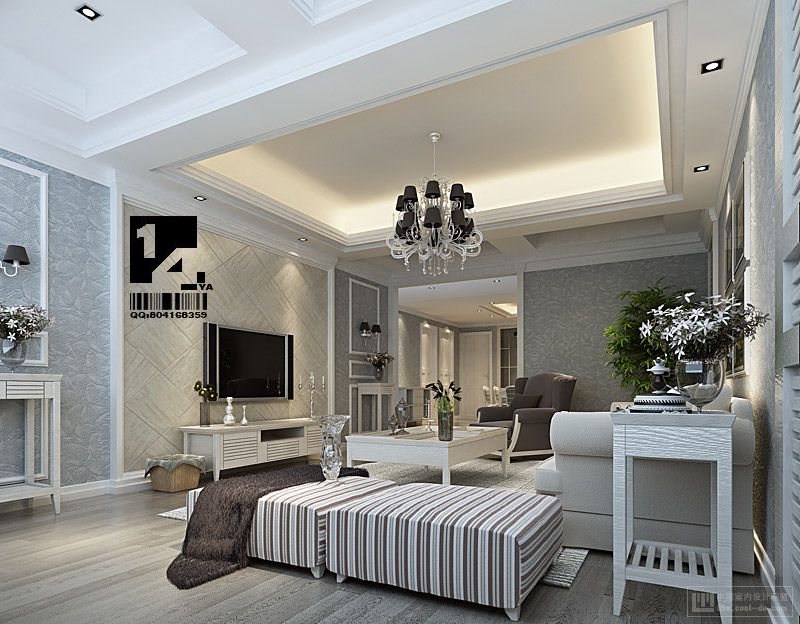 Awesome Classic Modern Interior Design With Classic White Living Room