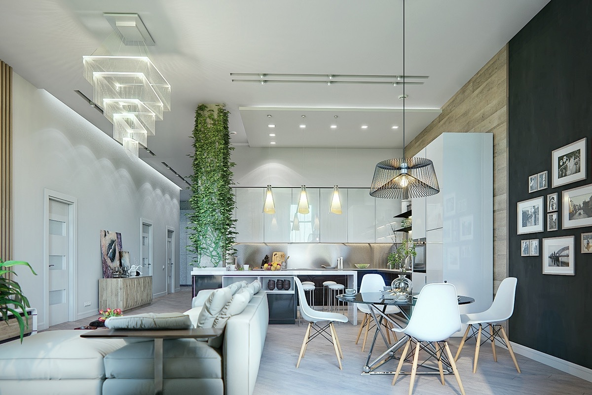 Custom Classic Modern Interior Design With Dining Room That Mixes Contemporary And Classic Styles