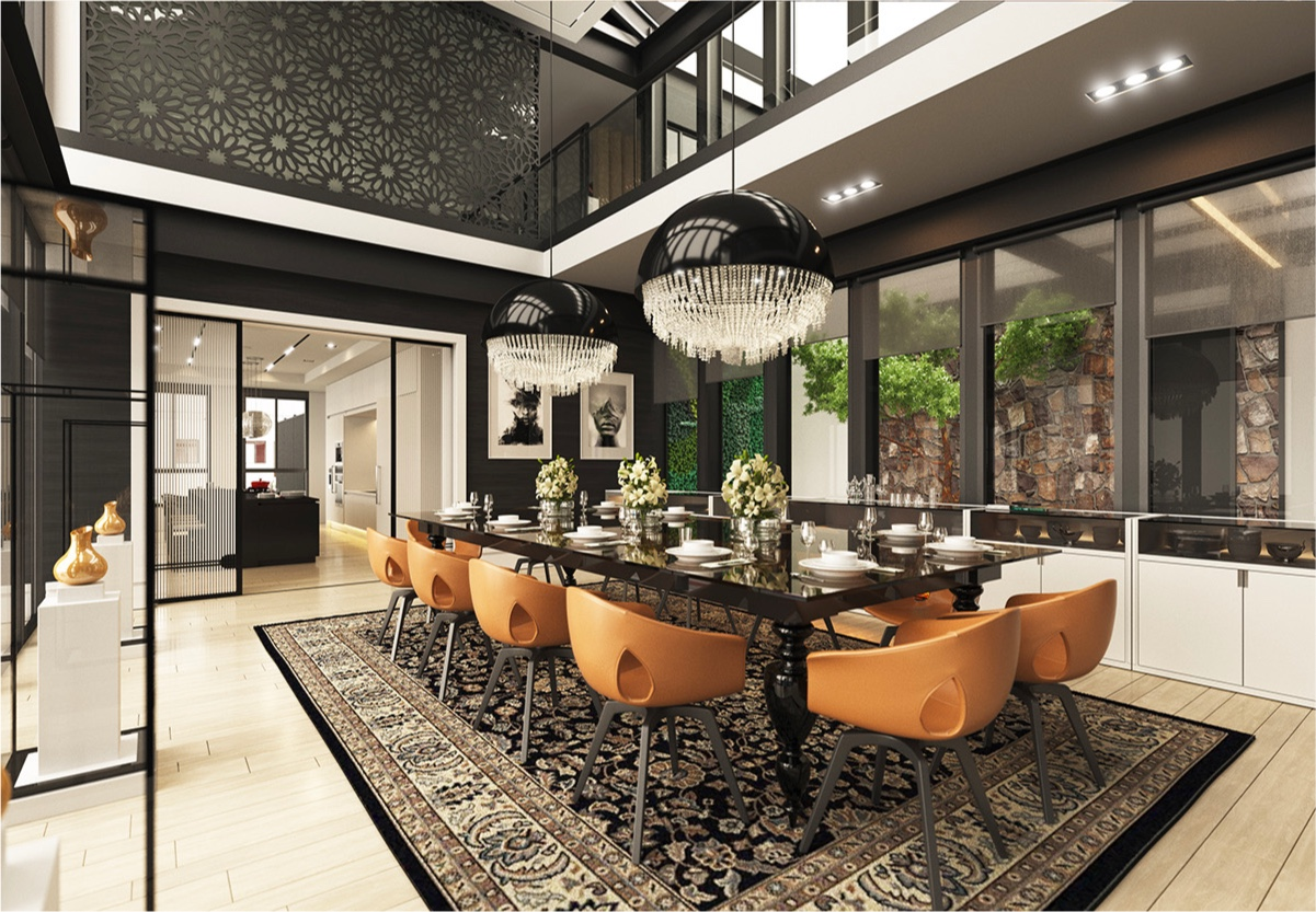 Great Classic Modern Interior Design With Modern Meets Classic Dining Room