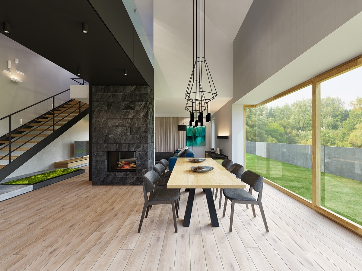 Beautiful Classic Modern Interior Design With Mixing Modern And Traditional Dining Room Elements