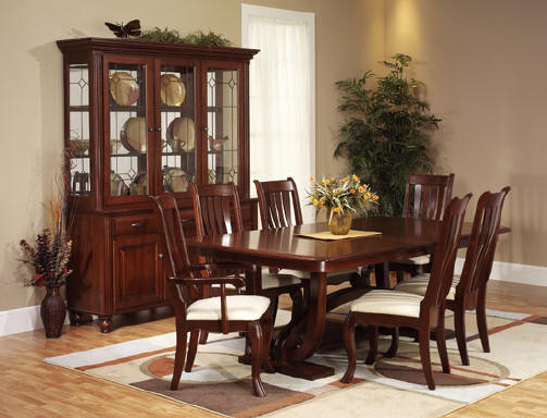 Brilliant Cherry Dining Room Chairs With Wood Table