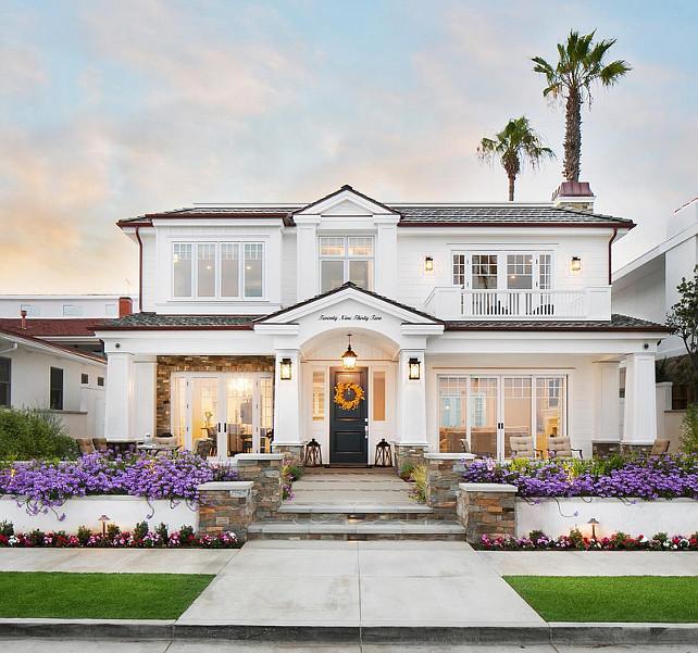 Minimalist White Home Interior Design With White House Exterior ...