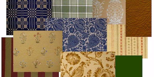 Popular Colonial Style Interior Design With American Colonial Fabric Sampler