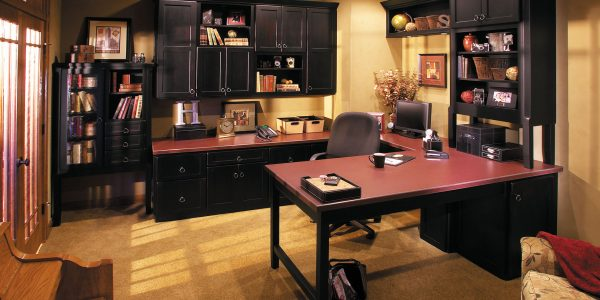 Trend Best Home Office Design Ideas With Fabulous Excellent Letter U Shaped Best Home Office Desk Also Several Black Wall Cabinets Have Best Office Desk