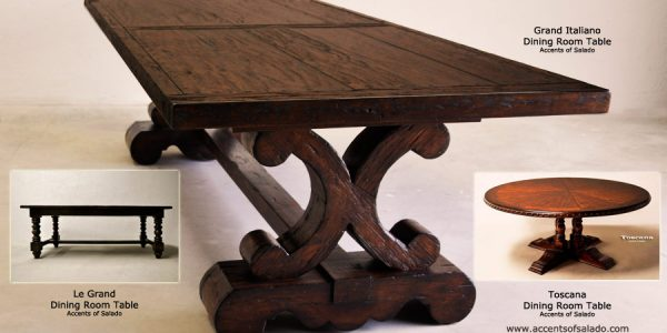 Popular Large Dining Room Tables With Large Wood Dining Room Table Extraordinary Tuscan Dining Room Images Ideas Furniture
