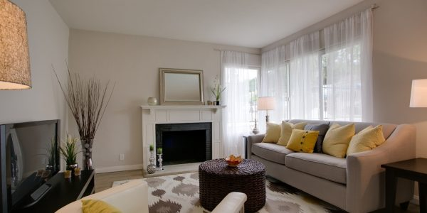 Popular Contemporary Living Rooms With Contemporary Living Room Ideas Best Interior Landscape Fireplace Rectangle Mirror Vase Flower Shade Lamp White Fabric Sofa Yellow Pillows Ornamental Carpet