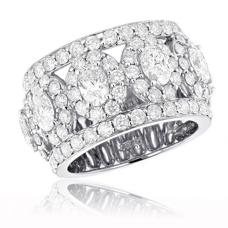 Simple 10 Year Wedding Anniversary Ring With Designer Diamond Wedding Ringsbands