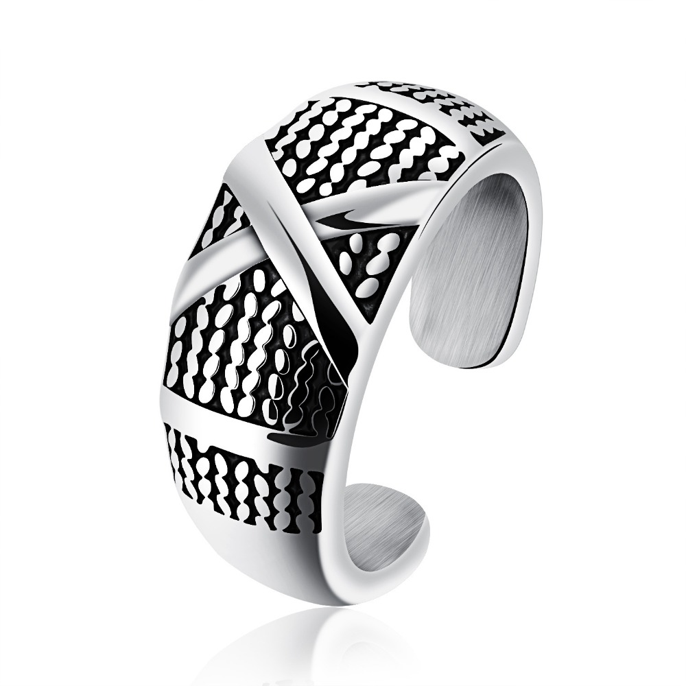New Best Wedding Anniversary Songs With Free Shipping Stainless Steel Men S Rings Tan Men S Ring Fashion Forward Rock Font B