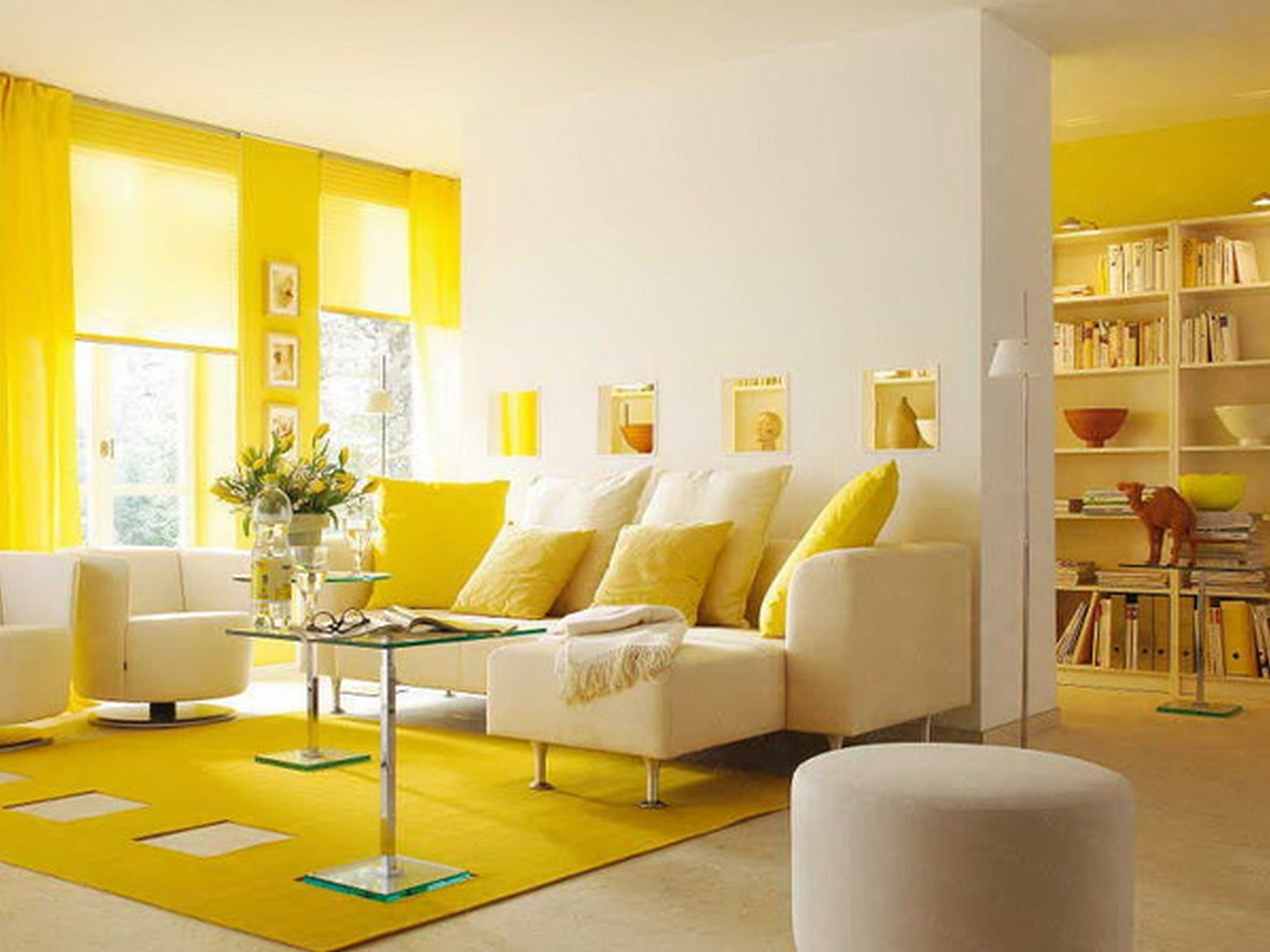 Perfect Yellow Interior Design Ideas With Stunning Yellow Living Room Interior Decoration And Painting Idea For Interior Design Home
