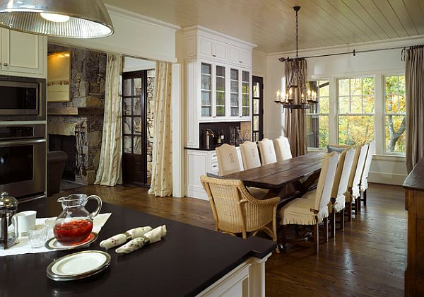 Impressive Unique Dining Room Chairs With Rustic Rectangular Dining Table