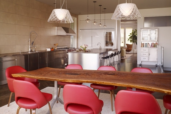 Minimalist Unique Dining Room Chairs With Cool Dining Room Chairs Red Simple Style With Kitchen Interior Design