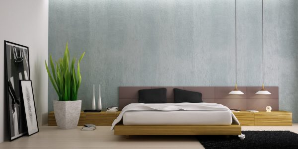 Custom Modern Bedroom Designs With Modern Bedroom With Plants