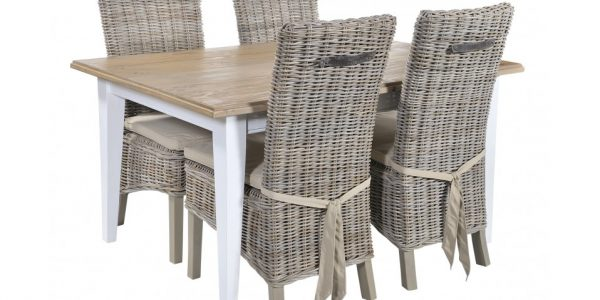 Popular Rattan Dining Chairs With Grey Wash Wicker Dining Chair Sets