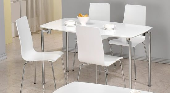 Minimalist Kitchen Dining Chairs With Buy Kitchen Breakfast Dining Table Sets Tall Poseur Bar Tables Intended For White Kitchen Table White Kitchen Table