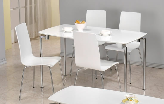Minimalist Kitchen Dining Chairs With Buy Kitchen Breakfast Dining & Pretty White Kitchen Table And Chairs Pictures u003eu003e White Kitchen ...