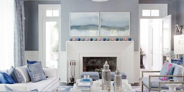 New Modern Wall Colors With Gray And Blue Living Room Ideas Modern Home Interior Gray Wall Color Blue Ceiling